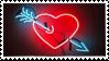 arrow through the heart | stamp