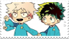 young Bakugou And Izuku | stamp