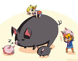 Piggies by jinglestan