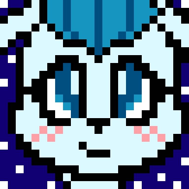 Glaceon Pixel Fan Art By Xxkawaiishinexx On Deviantart
