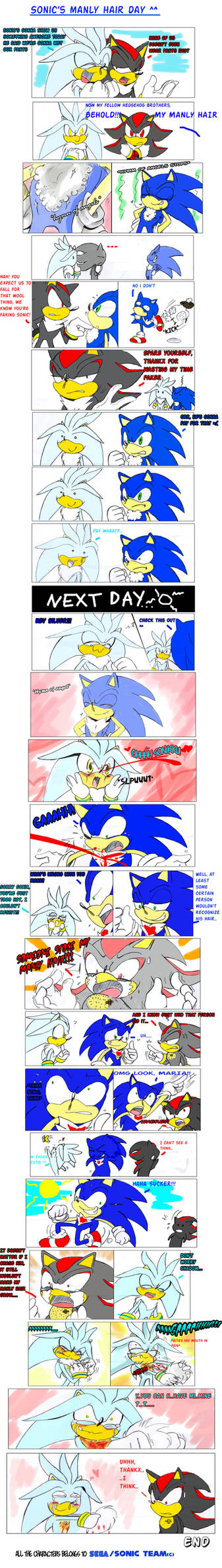 Sonic's manly hair day