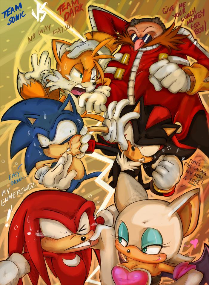 Team Sonic vs Team Dark by missyuna