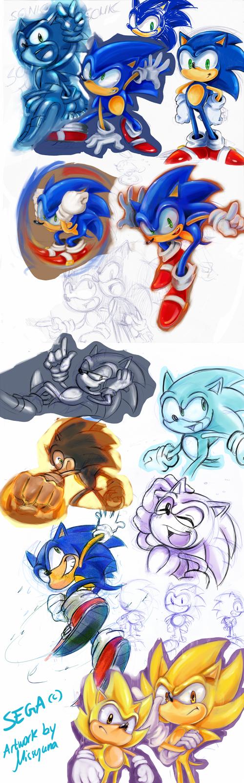 Sonic sketches by missyuna