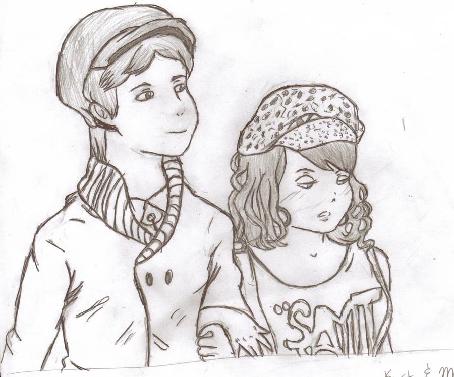 Kurt and Mercedes Glee by nightcrawlerlove