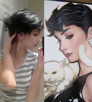 Adam Hughes Catwoman Wig WIP