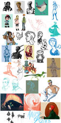 New Year's Sketch Dump 2013 by Anceylee-Star