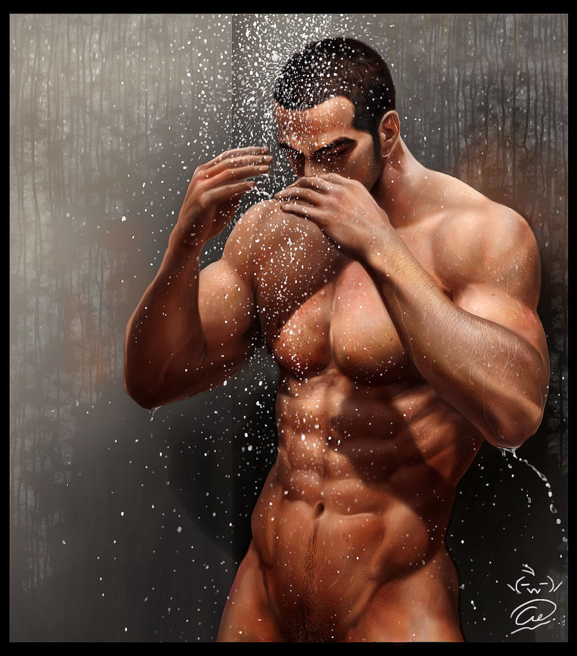 Sexy male shower