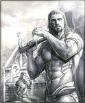 Argis and his master.(skyrim)