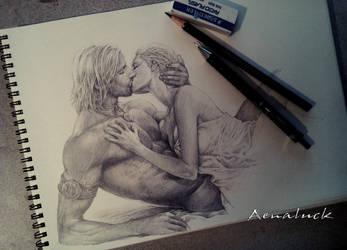 Deep kiss by aenaluck