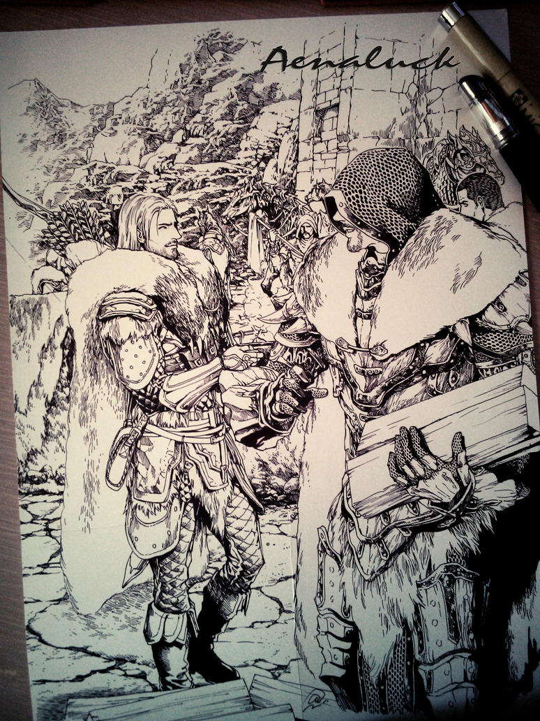 Pen sketch(no erasing)V.2 by aenaluck