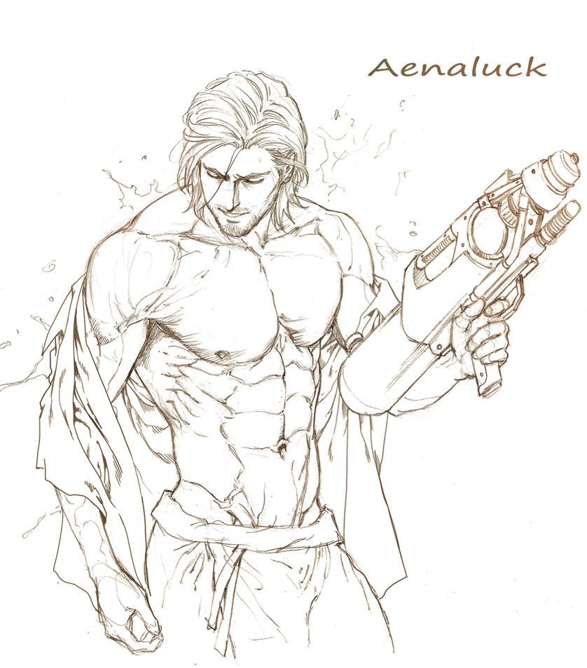 Sketch for Songkran festival 2016 by aenaluck