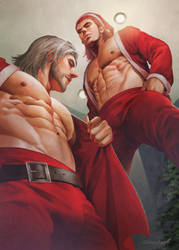 Santa vs Santa by aenaluck