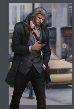 Master in suit