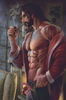 Santa Carl is preparing for Christmas