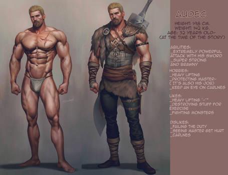 Audec: character info sheet