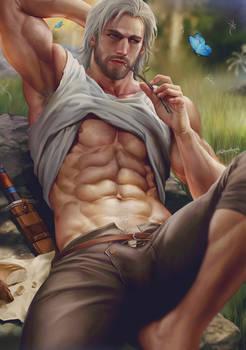Master is enjoying his relaxing time