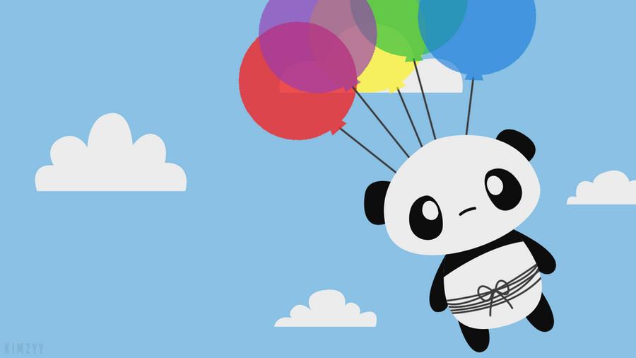 Balloon Panda Wallpaper by kimzyy on DeviantArt