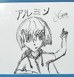 Armin - dry erase quick sketch by FireToMySoul