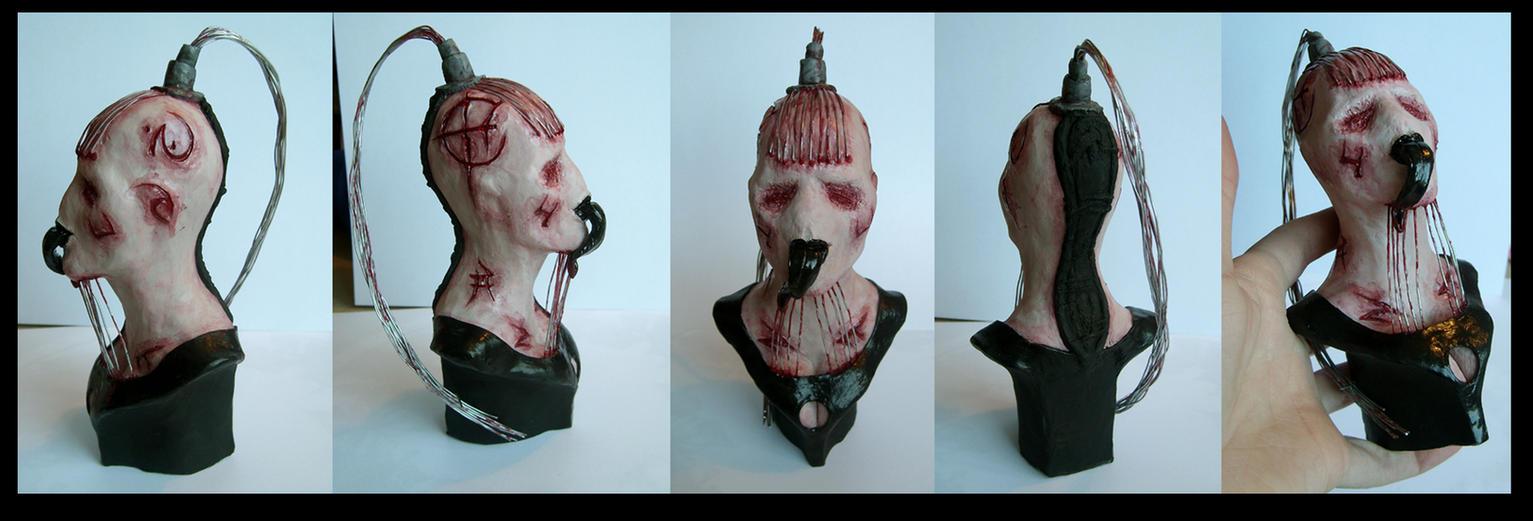 hellraiser wire twin bust by redtrackz on deviantart