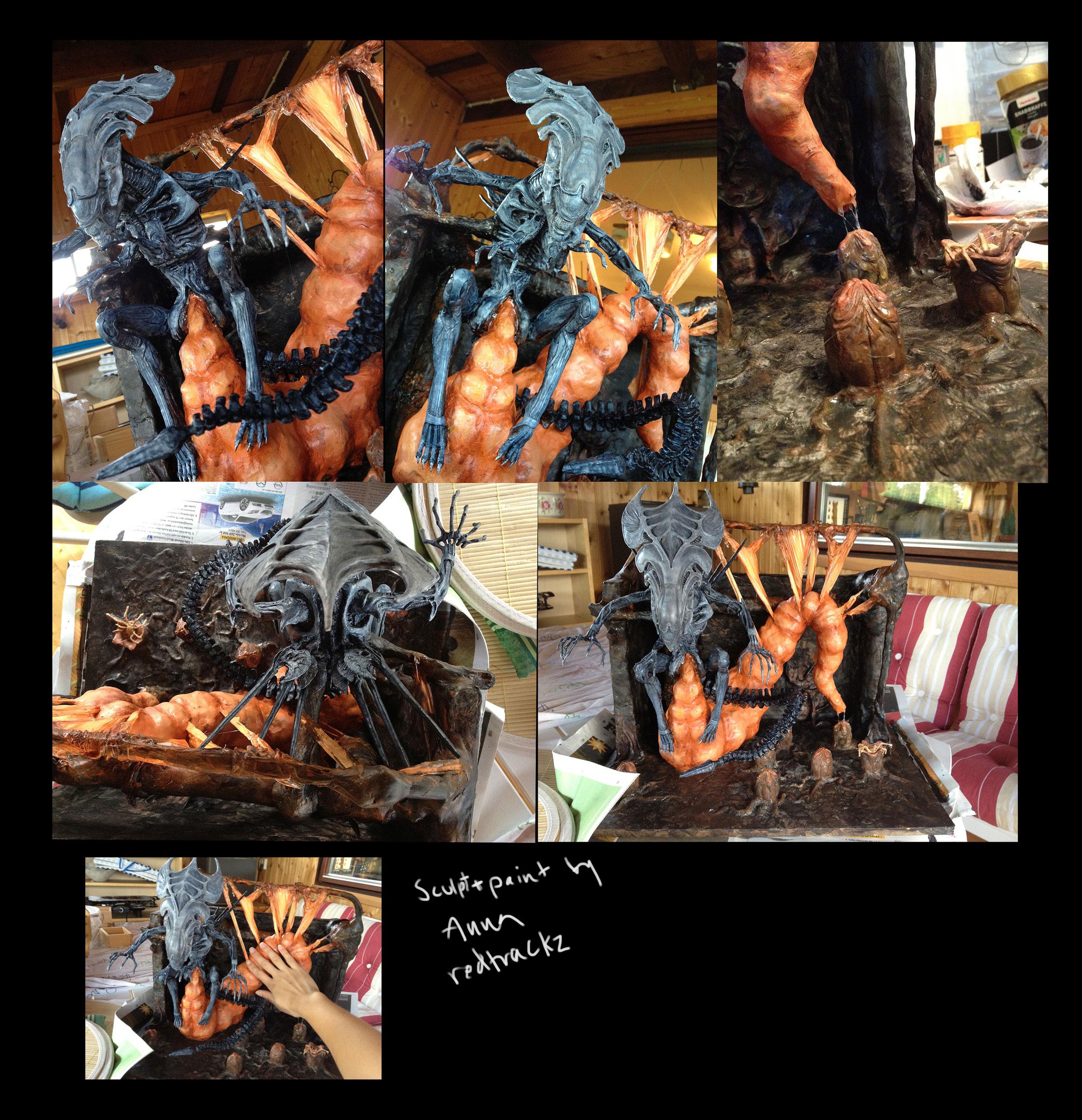 Alien queen egg sack diorama DONE by redtrackz on DeviantArt  Alien queen egg...