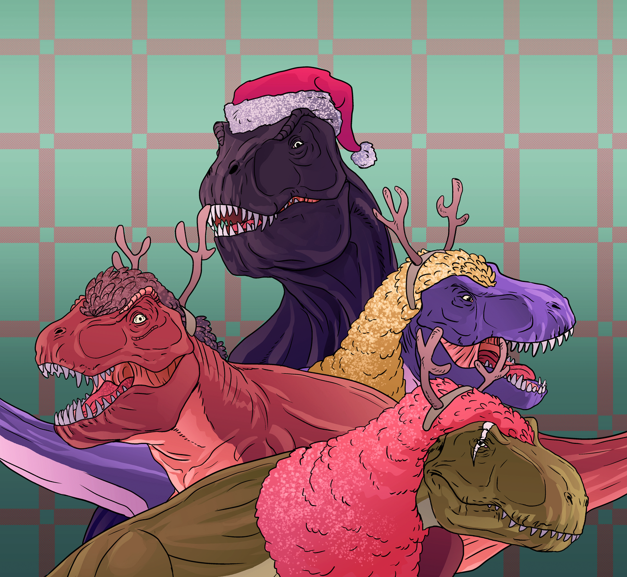 A Tyrannosaur Christmas by Ikechi1