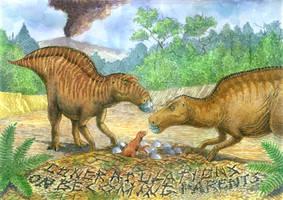 Maiasaura parent card by Vladimir Nikolov by Ikechi1
