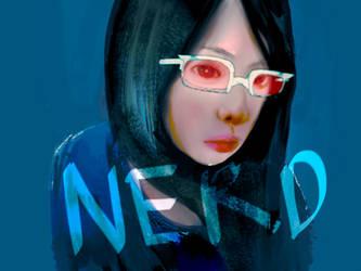 nerd girl by airahnn