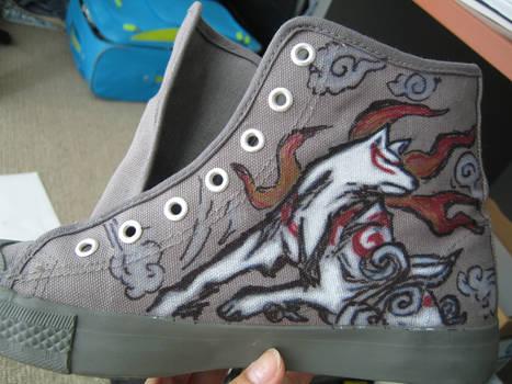 Okami Art on Sneakers