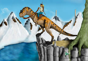 Aucasaurus Scout by Giganotosaur