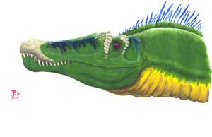 Spinsaurid head by Giganotosaur