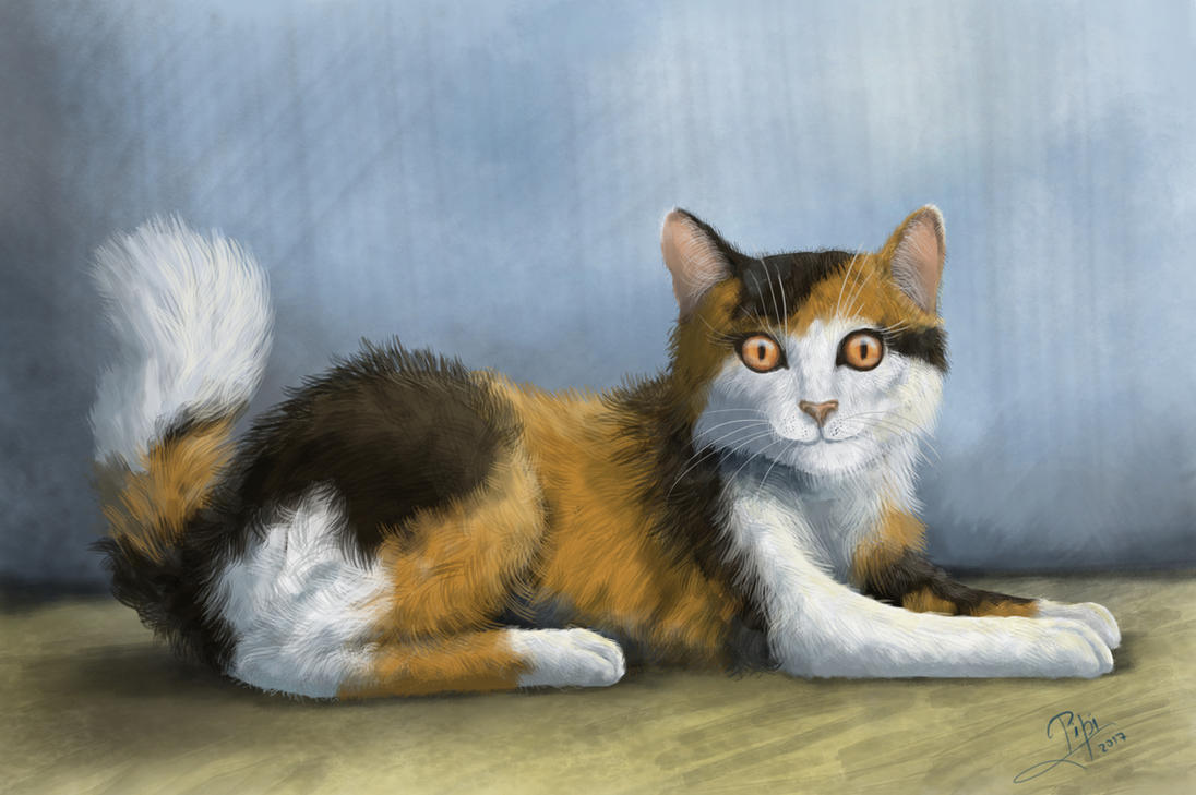 Calico cat for resquest! by Giganotosaur