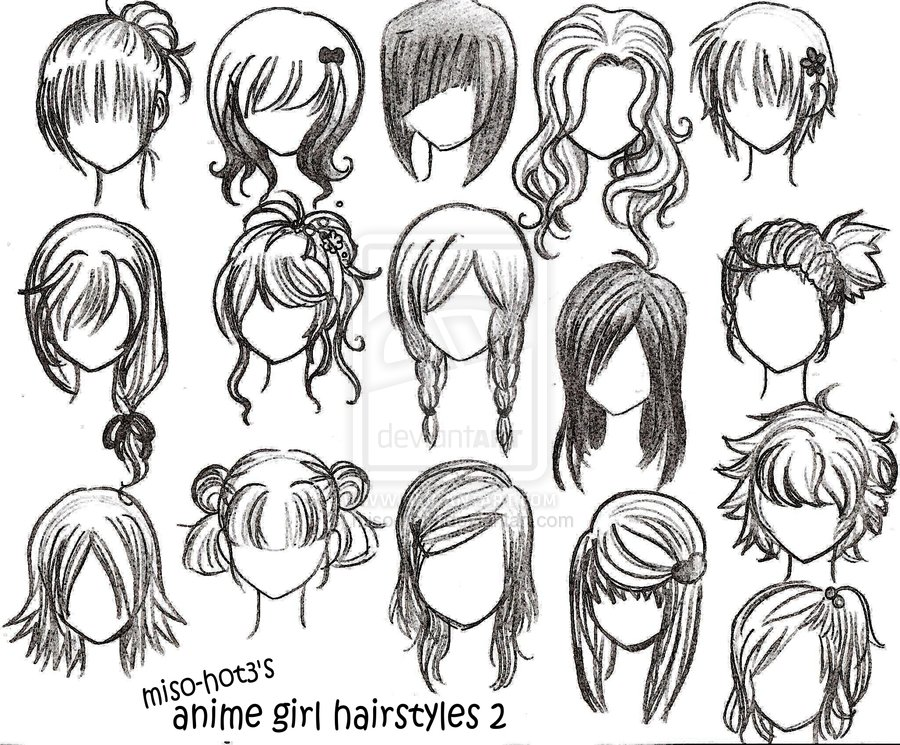 drawings drawings of girls hairstyles