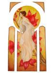 Mucha Inspired watercolor2