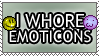I Whore Emoticons Stamp