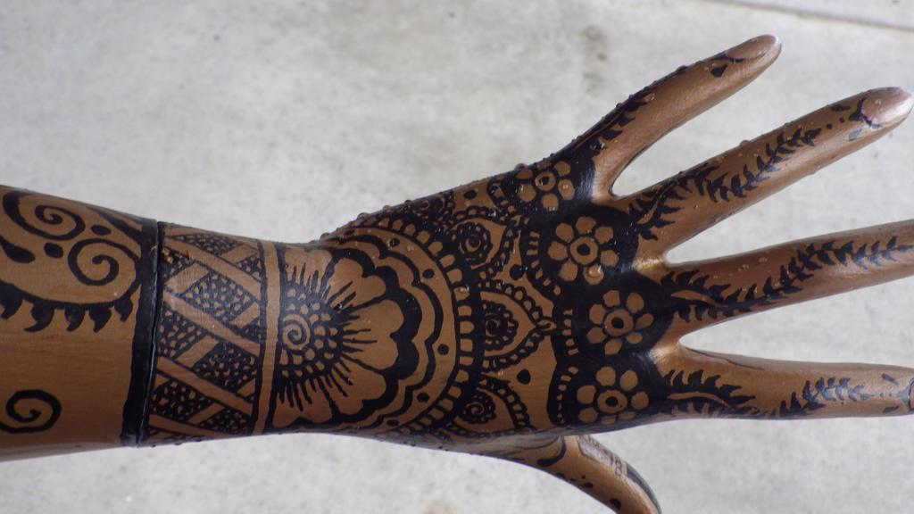 Mehndi Wrist Watch : Mannequin wrist and hand with henna designs by rockish