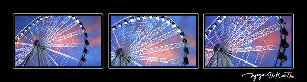 Ferry Wheel Sunset by nguyenvukimthu