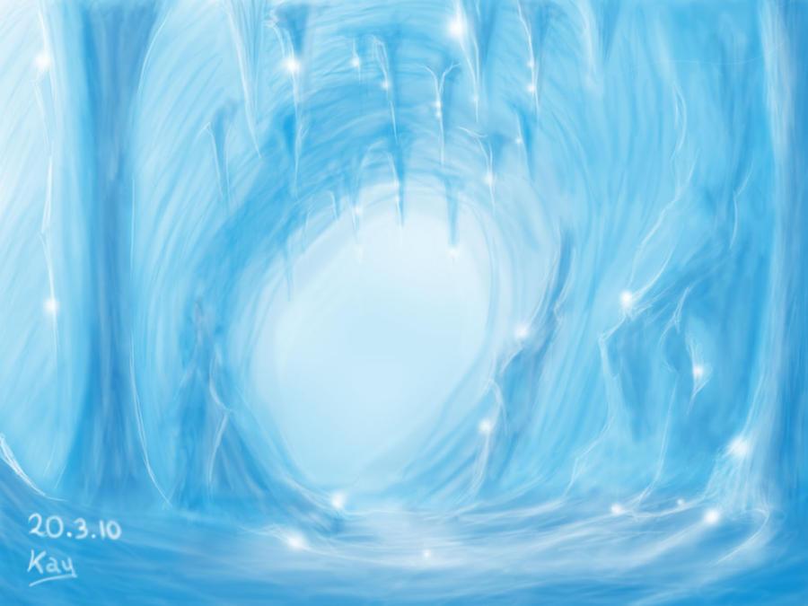 Výsledek obrázku pro anime ice cave