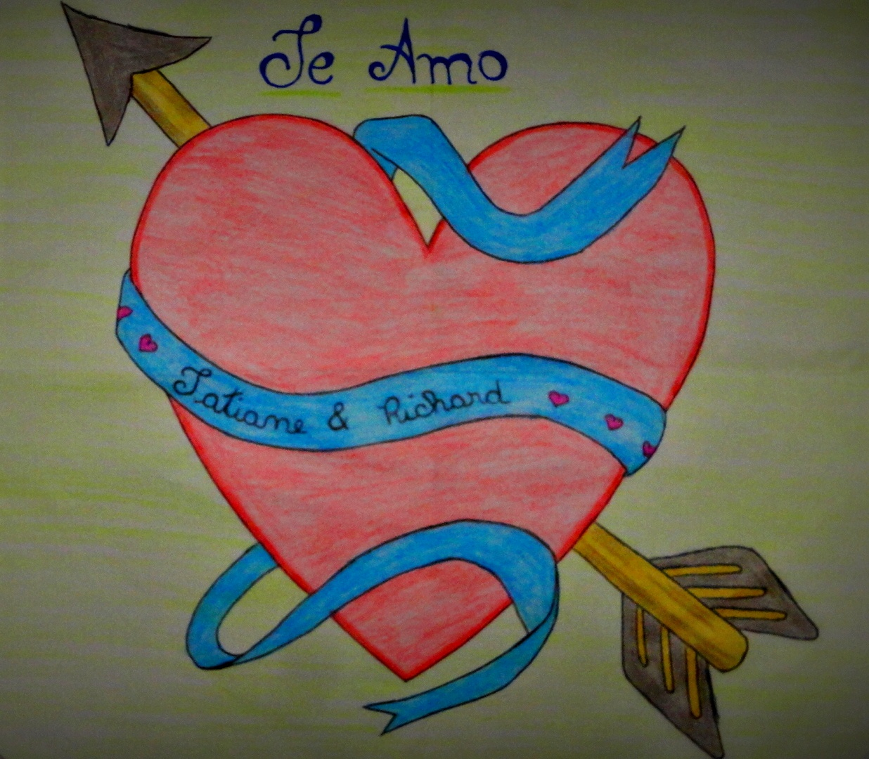Coracao Romantico-Desenho / Romantic Heart-Cartoon by Tex-And-Tathy