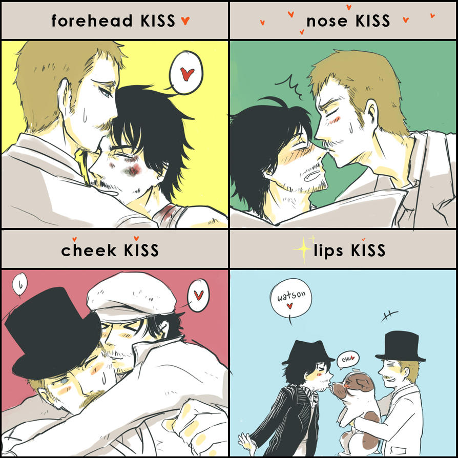 SH - Shwatsonlock Kiss meme by orb01
