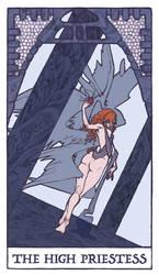 Tarot - High Priestess (WIP) by Jacinthe