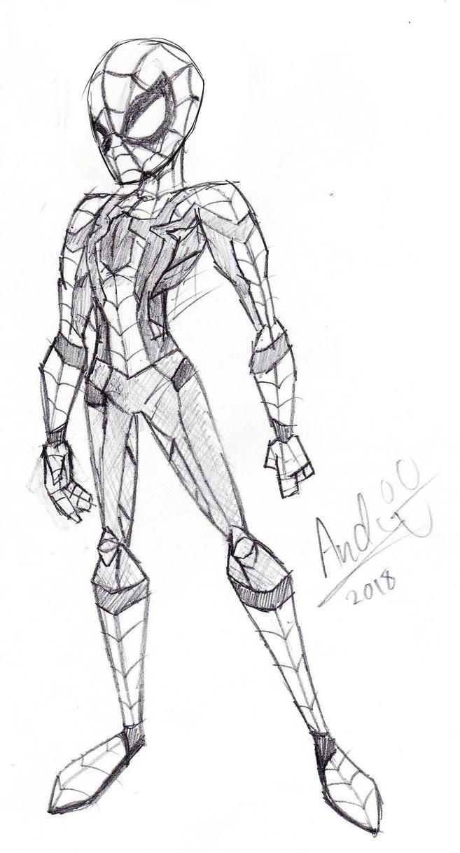 Infinity War SpiderMan Sketch