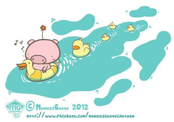 Piglet and ducks