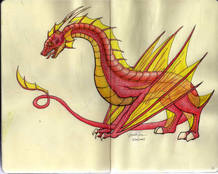 Flamedrake by InvinciChicken
