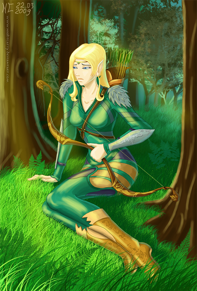 Mira the Elf by NightCatty