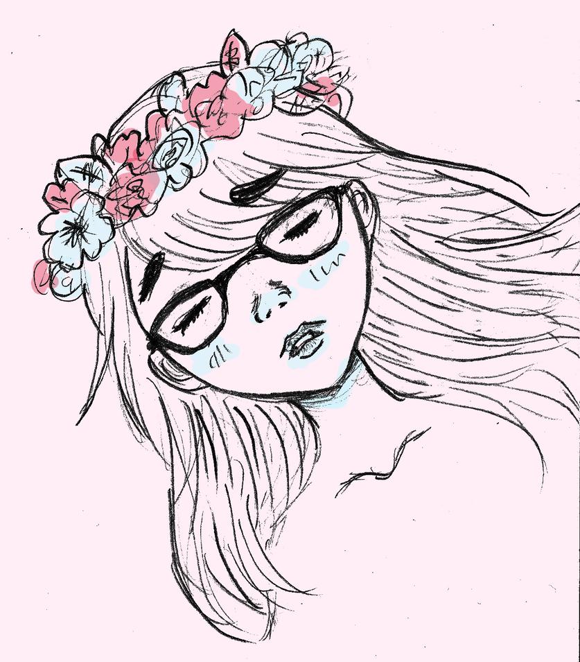 Simple Flower Crown Drawing Www Imagessure Com