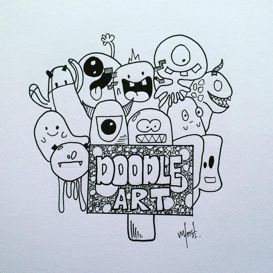 Mfnst doodle art doodle art monster by mfnst on deviantart for Doodle art monster