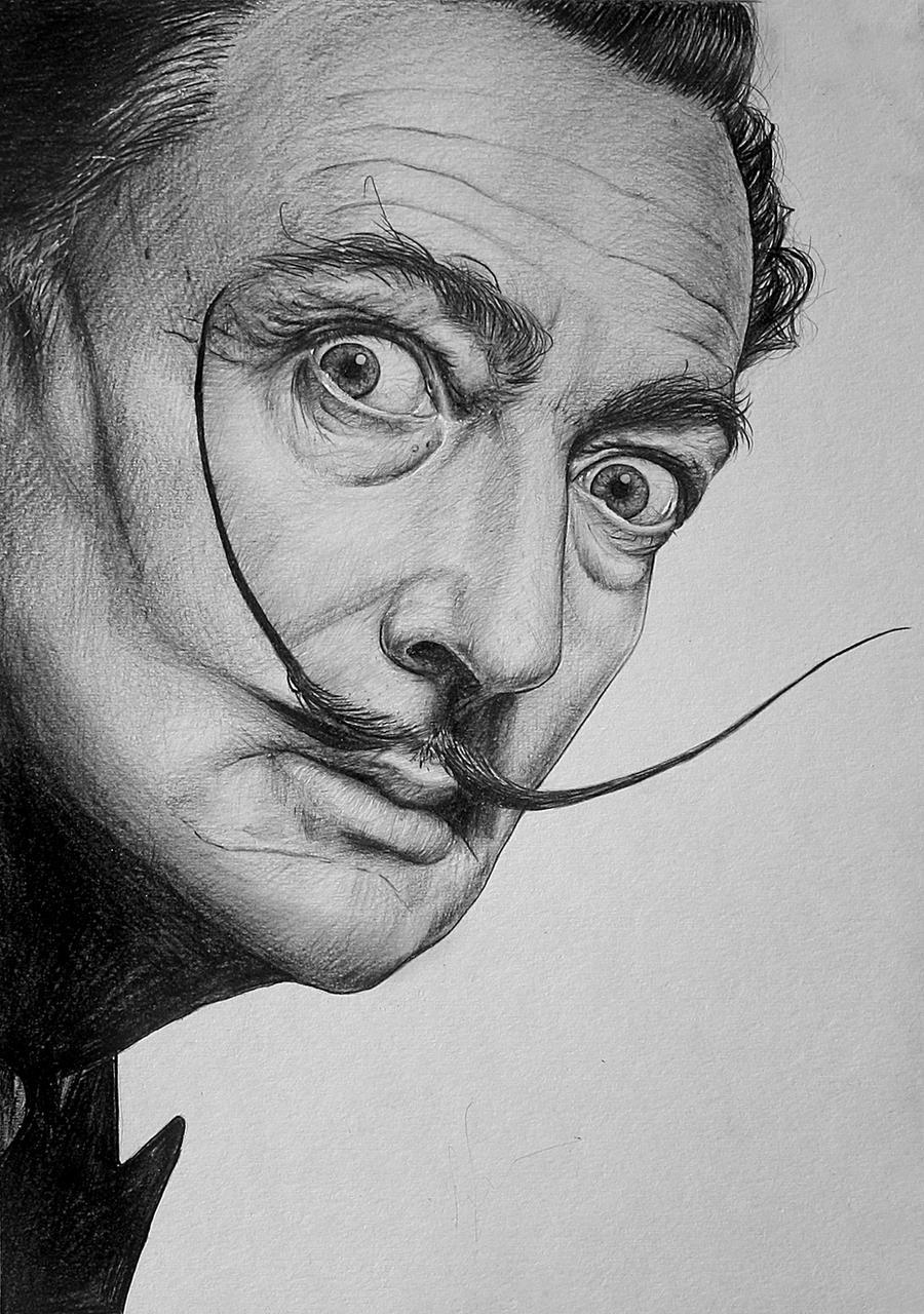 Salvador Dali by LazzzyV on DeviantArt