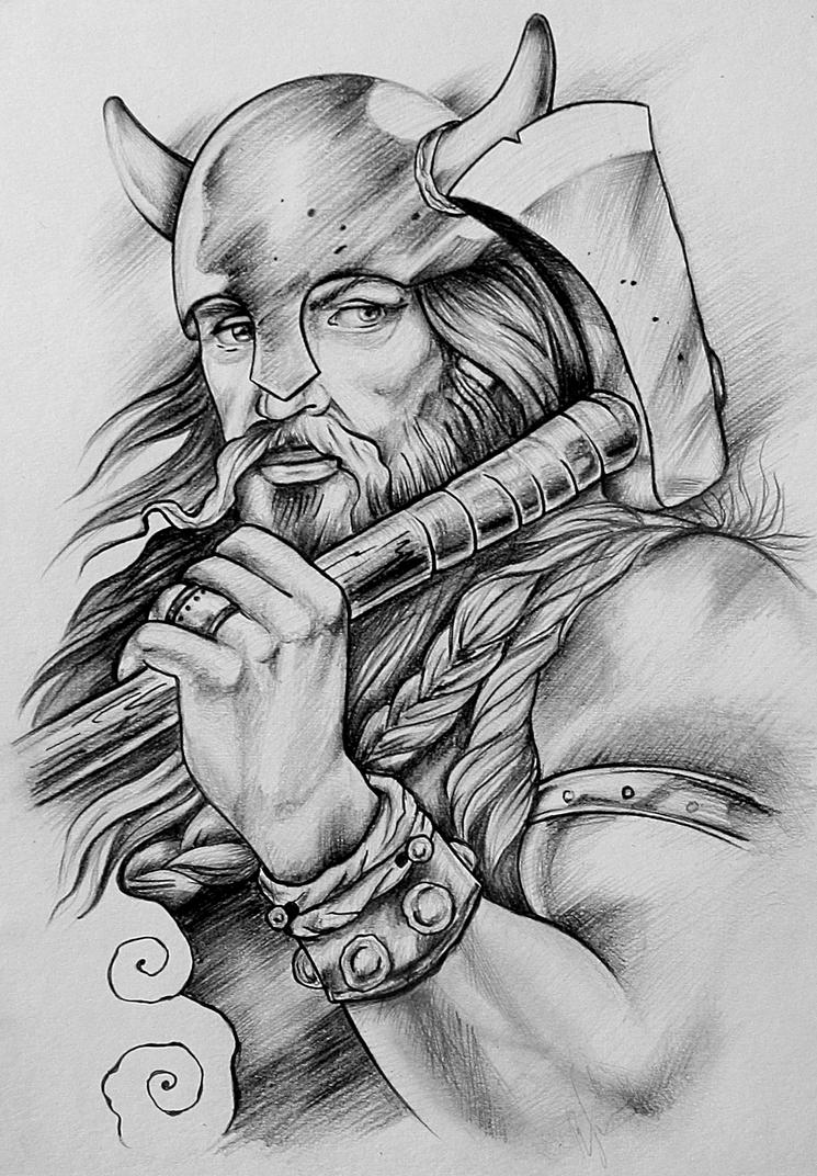 Viking by lazzzyv on deviantart for Viking pencils