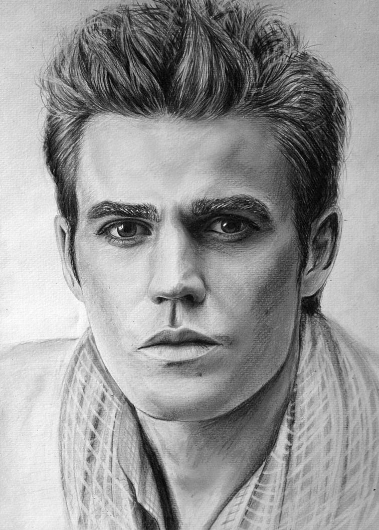 Paul wesley by lazzzyv on deviantart - Vampire diaries dessin ...