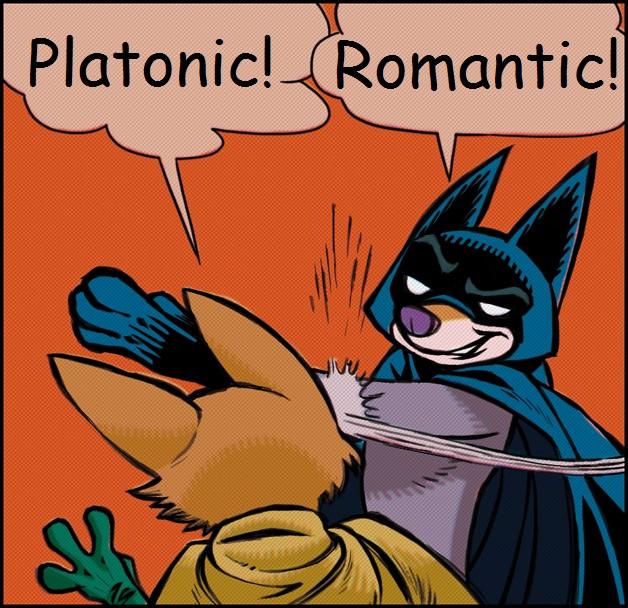 Platonic VS Romantic by Falkenauge-Hawkeye